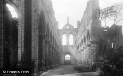 Kirkstall Abbey, Nave West 1891