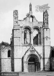 Kirkstall Abbey, The Western Facade c.1861