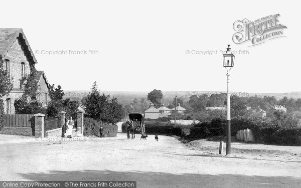 Knaphill, View from Anchor Hill c1886