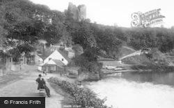 Knaresborough, Castle Hill From Below The Viaduct 1892