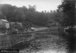 Knaresborough, Castle Hill From The Ferry 1914