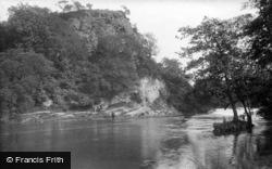 Knaresborough, Grimbald Crag On The River Nidd 1914
