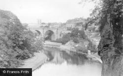 Knaresborough, River Nidd And The Viaduct 1892