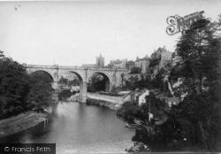 Knaresborough, River Nidd And The Viaduct 1906