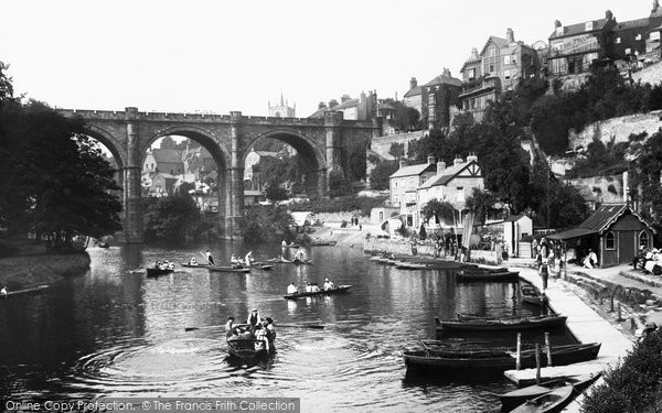 Knaresborough, River Nidd And The Viaduct 1921