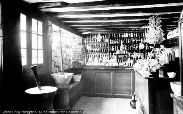 Knaresborough, The Old Chemist Shop, Interior 1914