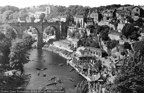 Knaresborough, view from the Castle c1955