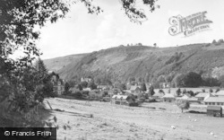 Knighton, General View From The Presteign Road c.1955