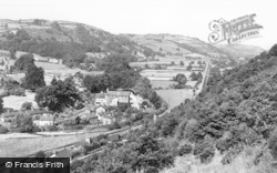 Knighton, Teme Valley From Kinsley c.1960