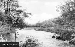 Knighton, The River c.1960