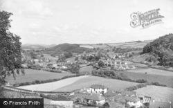 Knighton, The Teme Valley c.1955
