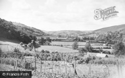Knighton, The Valley From Market Street c.1955