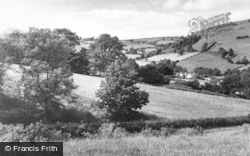 Knighton, View From Ludlow Road c.1965
