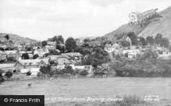 Knighton, View Of Town From Bryn-Y-Castel c.1955
