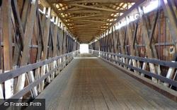 Covered Bridge Interior 2009, Knights Ferry