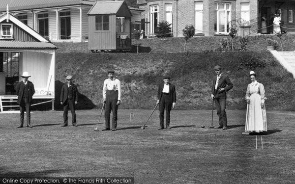 Knightwick, playing Croquet, Sanatorium 1906