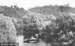 Knightwick, River Teme From Knightwick Bridge 1906