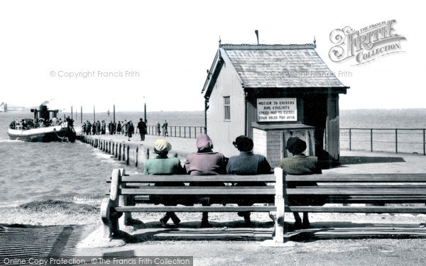 Knott End-on-Sea, The Ferry And Slipway c.1950