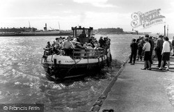 The Ferry 'caldervale' c.1960, Knott End-on-Sea