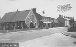 The Post Office And Methodist Church c.1960, Knott End-on-Sea