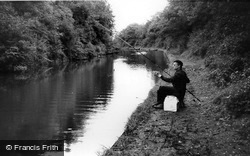 Knowle, Fishing, Grand Union Canal c.1965