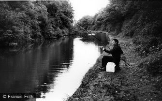 Knowle, Fishing, Grand Union Canal c1965