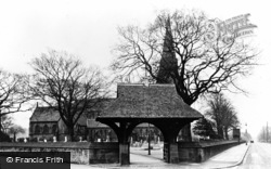 St Mary's Church c.1955, Knowsley