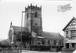 Knutsford, Church Of St Cross c.1955
