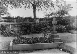 Knutsford, The Grave Of Mrs Gaskell c.1950