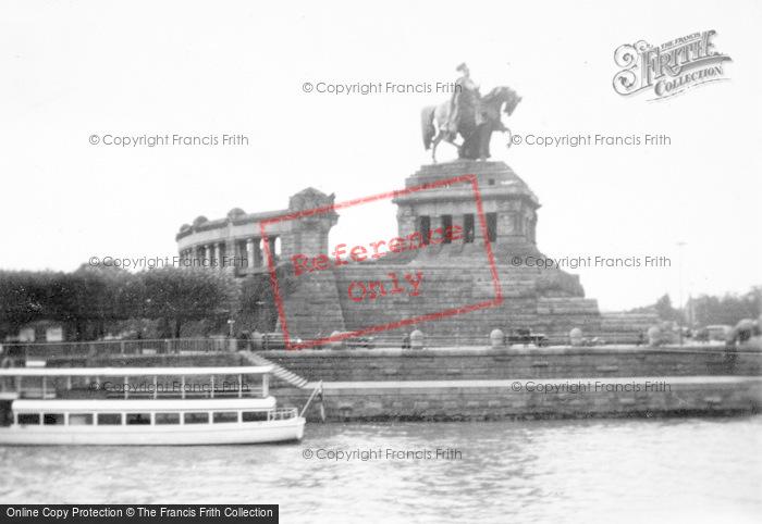 Photo of Koblenz, Kaiser William Monument c.1930