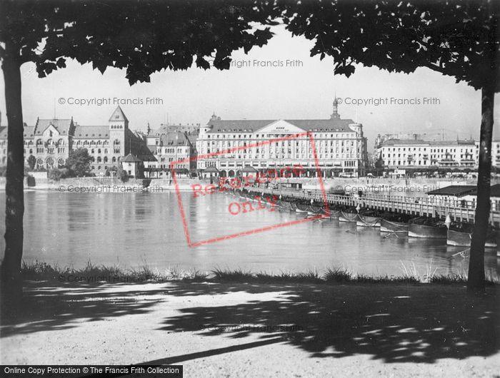 Photo of Koblenz, With Schiffsbrucke c.1930