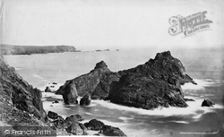 Kynance Cove, Asparagus Island And Lizard Head c.1876