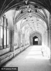 Lacock, Abbey Cloister c.1950