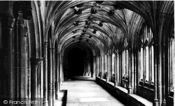 Lacock, The Cloisters, Lacock Abbey c.1955