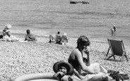 Ladram Bay, Mother And Child On The Beach c.1960