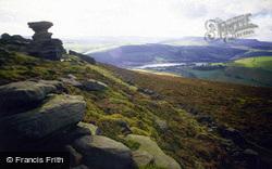 Ladybower, Saltcellar Feature, Derwent Edge c.1990, Ladybower Reservoir