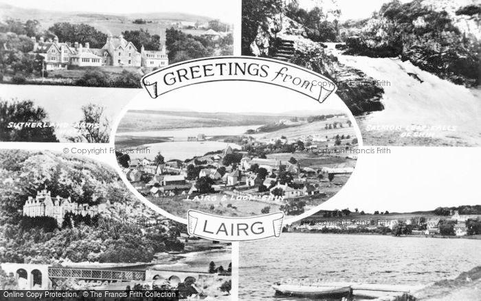 Photo of Lairg, Composite c.1950