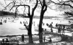 Ice Skating On A Lake c.1890, Lake District