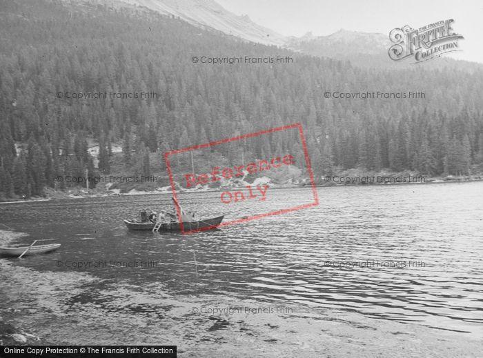 Photo of Lake Misurina, Fishing Boat c.1938