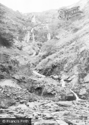 Lake Vyrnwy, The Waterfall c.1955
