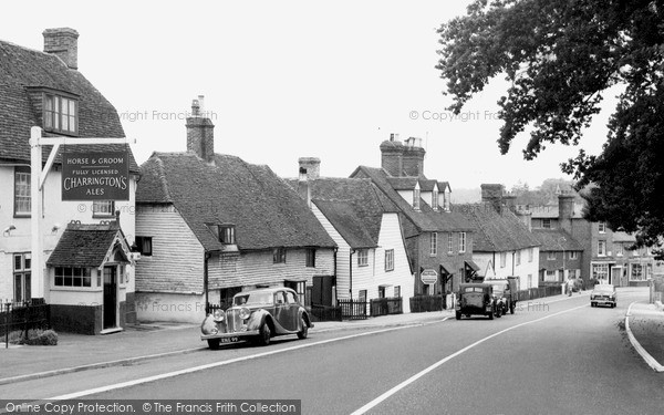 Photo of Lamberhurst, Old Hill And High Street c.1955