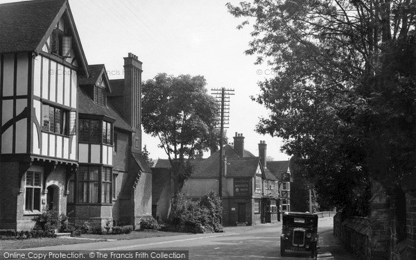 Photo of Lamberhurst, Stair House and George & Dragon Hotel c1955