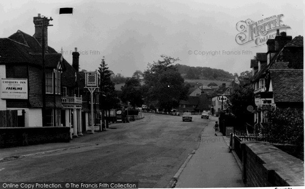 Photo of Lamberhurst, the Broadway from the Bridge c1960