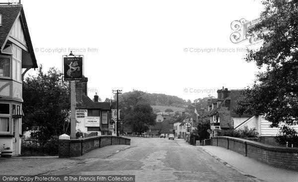 Lamberhurst, the Village Bridge and Broadway c1960