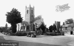 Lambourn, Church Of St Michael And All Angels And Market Square c.1955