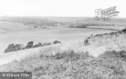 Lambourn, From Hungerford Hill c.1960