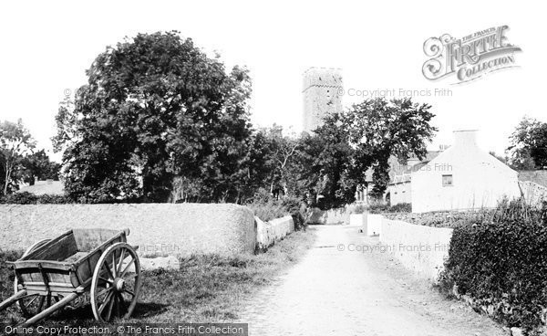 Photo of Lamphey, Church Of St Faith And St Tyfai And Village 1890