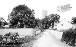 Lamphey, Church Of St Faith And St Tyfai And Village 1890