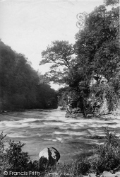 Lanark, View From Corra Linn 1897