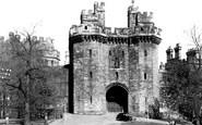 Lancaster, John O'Gaunt's Statue, the Castle c1950